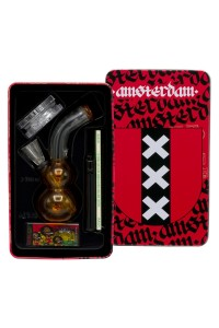 Amsterdam | Bong giftset with 12cm