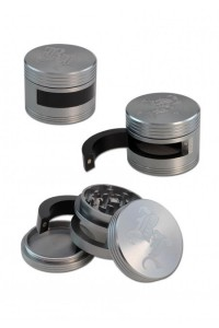 'BL' 'Dooor' Aluminium Grinder 3-part w. Door 64mm Titan