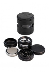 'BL' 'Windoz' Aluminium Grinder 4-part 62mm black