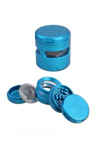 'BL' 'Windoz' Aluminium Grinder 4-part 62mm blue