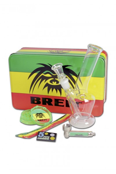 'Breit' Mini Bong Set with Grinder and Pure Pipe