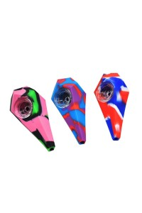 Fat Diamond Silicone Pipe 10cm