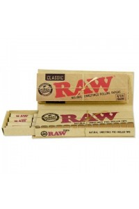 Raw Connoisseur 1 1/4 size + Pre-rolled tips